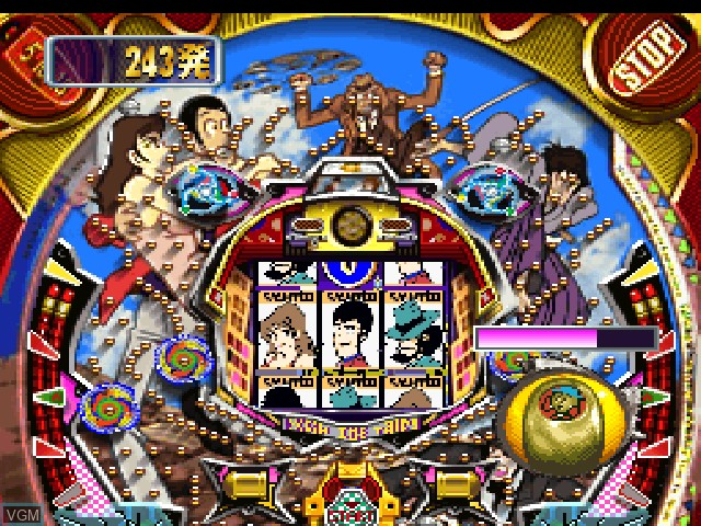 In-game screen of the game Heiwa Parlor! Pro - Lupin Sansei Special on Sony Playstation