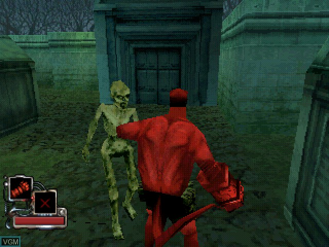 In-game screen of the game Hellboy - Asylum Seeker on Sony Playstation