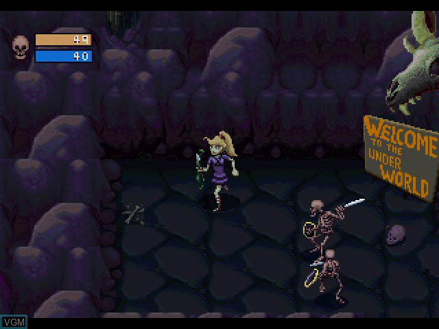 In-game screen of the game Herc's Adventures on Sony Playstation