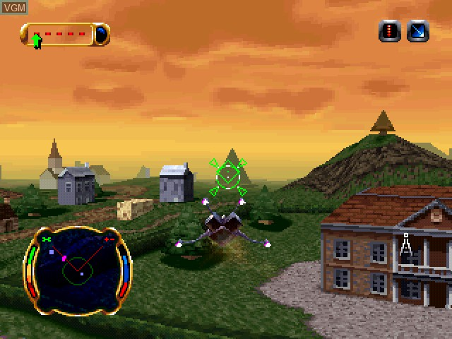 In-game screen of the game Invasion from Beyond on Sony Playstation