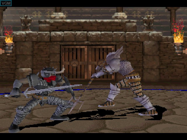 In-game screen of the game Advanced Dungeons & Dragons - Iron & Blood - Warriors of Ravenloft on Sony Playstation