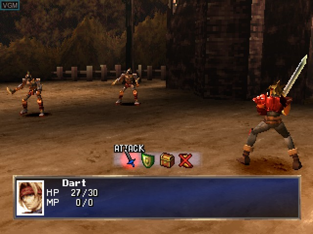 In-game screen of the game Legend of Dragoon, The on Sony Playstation