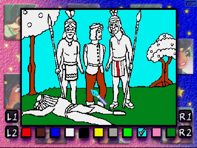 In-game screen of the game Legend of Pocahontas on Sony Playstation