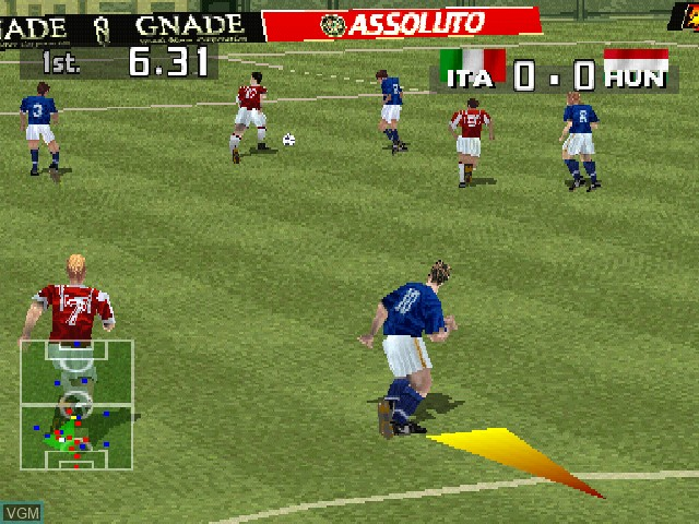 In-game screen of the game LiberoGrande on Sony Playstation