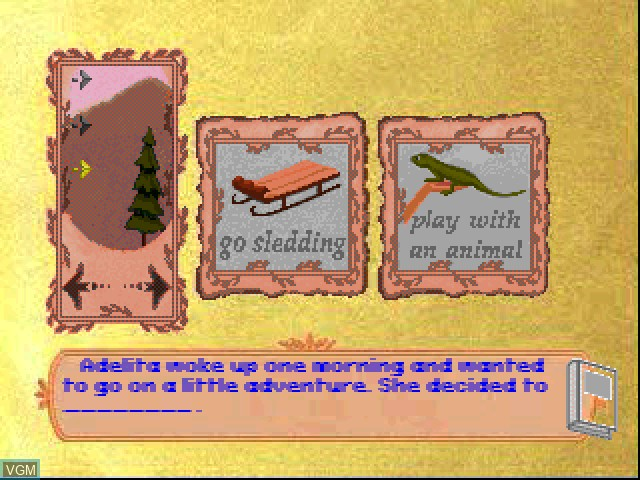 In-game screen of the game Liquid Books Adventure 3 - Far-Fetched Frontier Tales on Sony Playstation