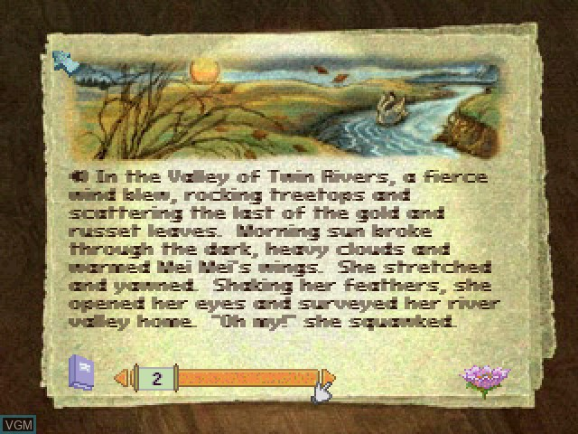 In-game screen of the game Liquid Books Adventure 6 - The Wandering Path on Sony Playstation