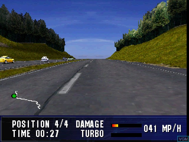 In-game screen of the game London Racer on Sony Playstation