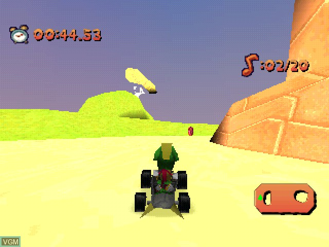 In-game screen of the game Looney Tunes Racing on Sony Playstation