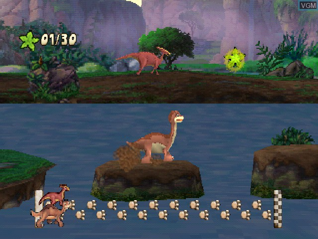 In-game screen of the game Land Before Time, The - Big Water Adventure on Sony Playstation