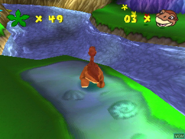 In-game screen of the game Land Before Time, The - Return to the Great Valley on Sony Playstation