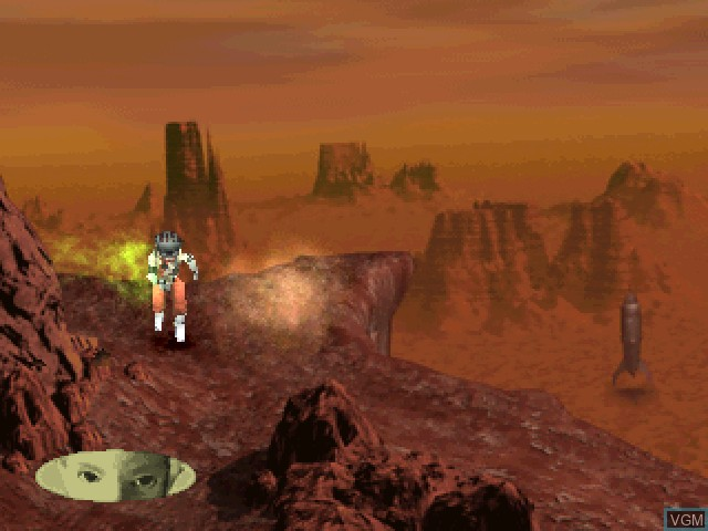 In-game screen of the game Planet Laika on Sony Playstation
