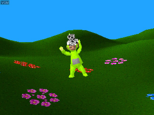 In-game screen of the game Play with the Teletubbies on Sony Playstation