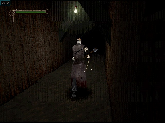 In-game screen of the game Nightmare Creatures II on Sony Playstation