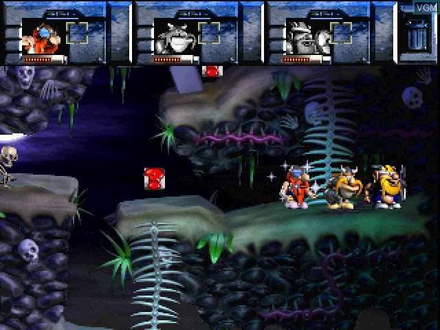 In-game screen of the game Norse by Norsewest - The Return of the Lost Vikings on Sony Playstation