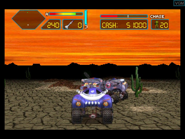 In-game screen of the game Off-World Interceptor Extreme on Sony Playstation