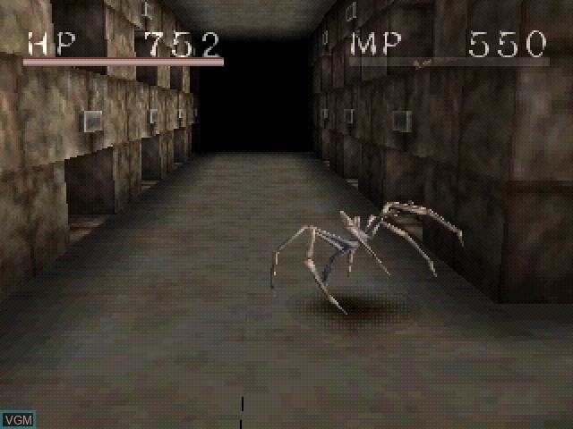 In-game screen of the game Shadow Tower on Sony Playstation