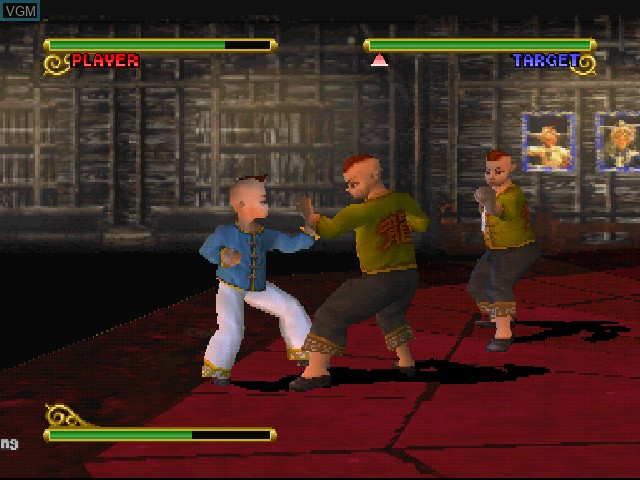 In-game screen of the game Shaolin on Sony Playstation