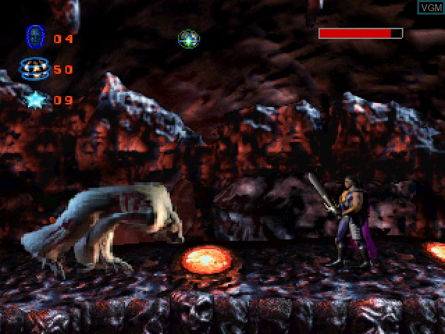 In-game screen of the game Skeleton Warriors on Sony Playstation