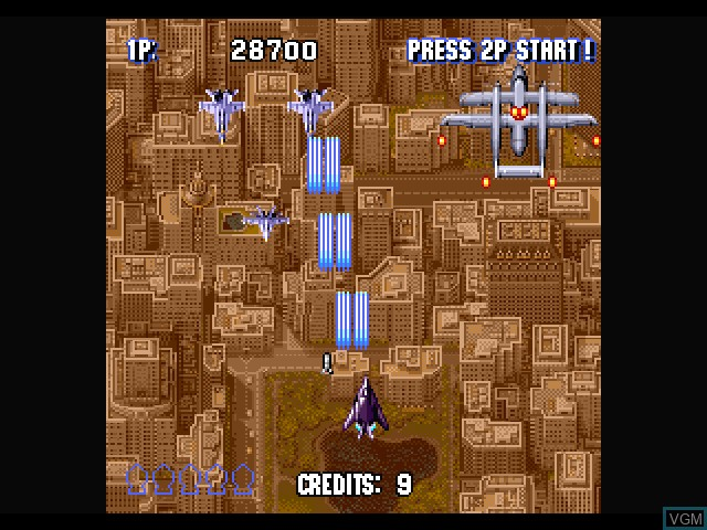 In-game screen of the game Sonic Wings Special on Sony Playstation