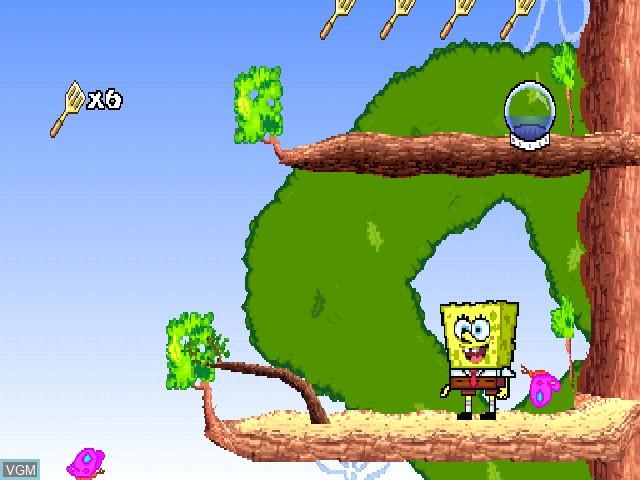 In-game screen of the game Nickelodeon SpongeBob SquarePants - SuperSponge on Sony Playstation