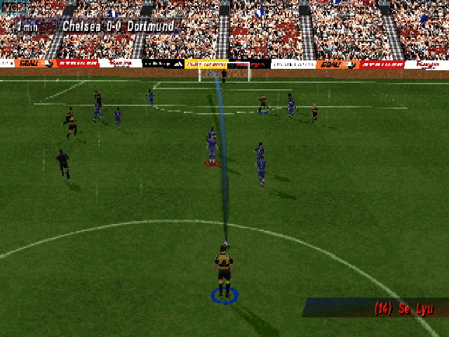 In-game screen of the game Striker Pro 2000 on Sony Playstation
