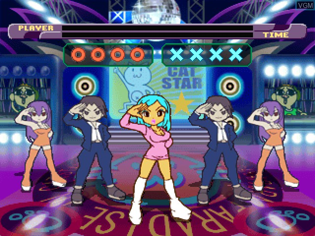 In-game screen of the game Superstar Dance Club - #1 Hits!!! on Sony Playstation