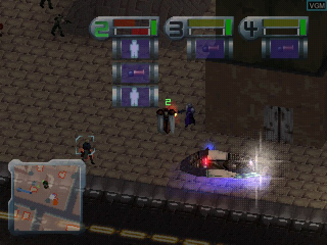 In-game screen of the game Syndicate Wars on Sony Playstation
