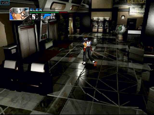 In-game screen of the game T.R.A.G. - Mission of Mercy on Sony Playstation