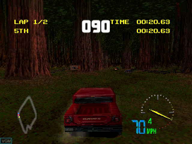 In-game screen of the game Test Drive Off-Road 3 on Sony Playstation