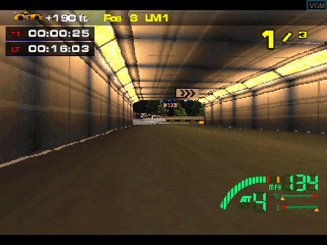 In-game screen of the game Test Drive Le Mans on Sony Playstation