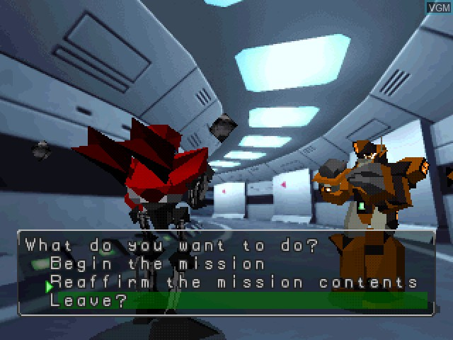 In-game screen of the game Robo Pit 2 on Sony Playstation
