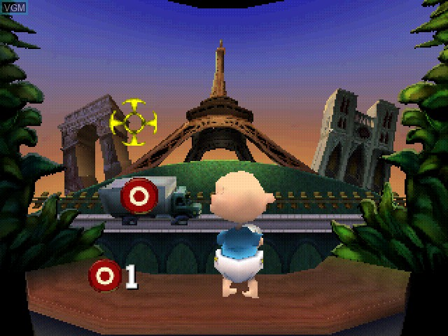 In-game screen of the game Nickelodeon Rugrats in Paris - The Movie on Sony Playstation