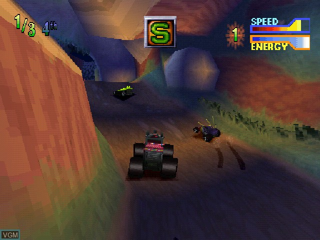 In-game screen of the game Tyco R-C - Assault with a Battery on Sony Playstation