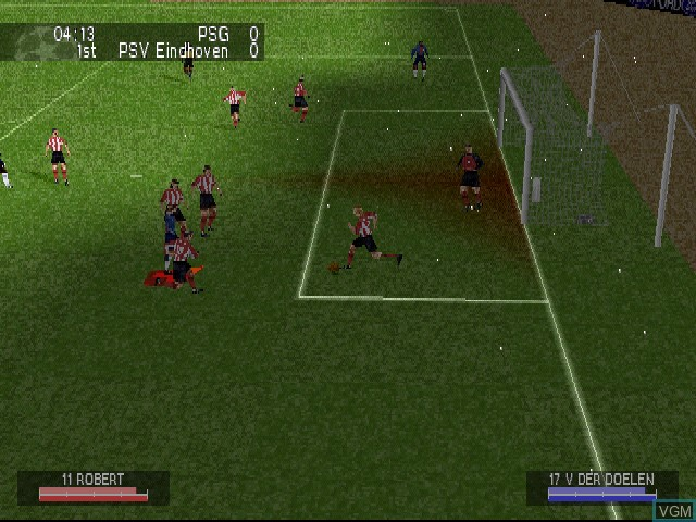 In-game screen of the game UEFA Champions League - Season 2000-2001 on Sony Playstation
