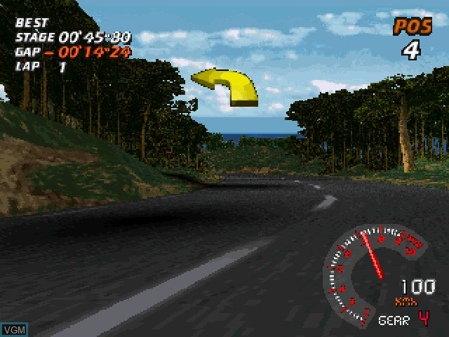 In-game screen of the game V-Rally - 97 Championship Edition on Sony Playstation