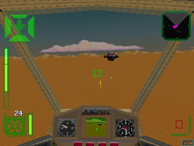 In-game screen of the game Warhawk - The Red Mercury Missions on Sony Playstation