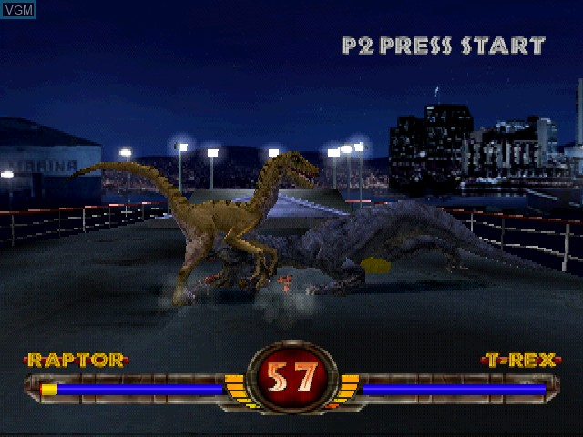 In-game screen of the game Warpath - Jurassic Park on Sony Playstation
