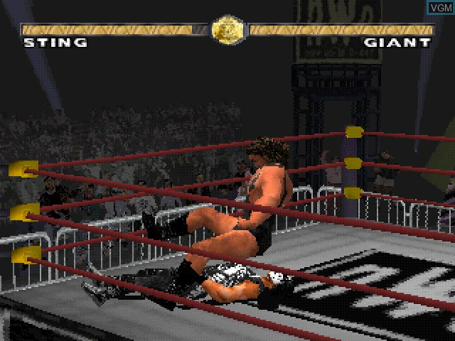 In-game screen of the game WCW Nitro on Sony Playstation