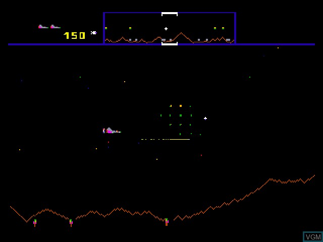 In-game screen of the game Williams Arcade's Greatest Hits on Sony Playstation