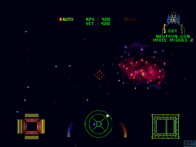 In-game screen of the game Wing Commander III - Heart of the Tiger on Sony Playstation