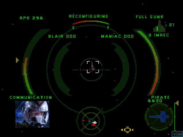 In-game screen of the game Wing Commander IV - The Price of Freedom on Sony Playstation