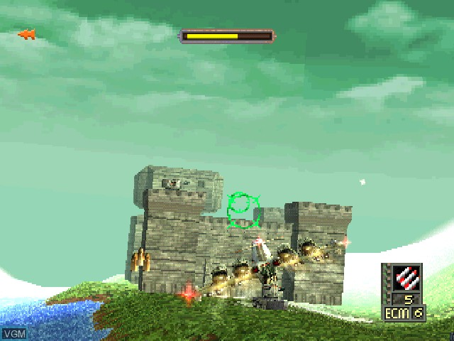 In-game screen of the game World Destruction League - WarJetz on Sony Playstation
