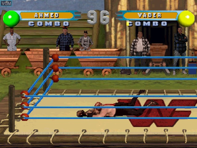 In-game screen of the game WWF In Your House on Sony Playstation