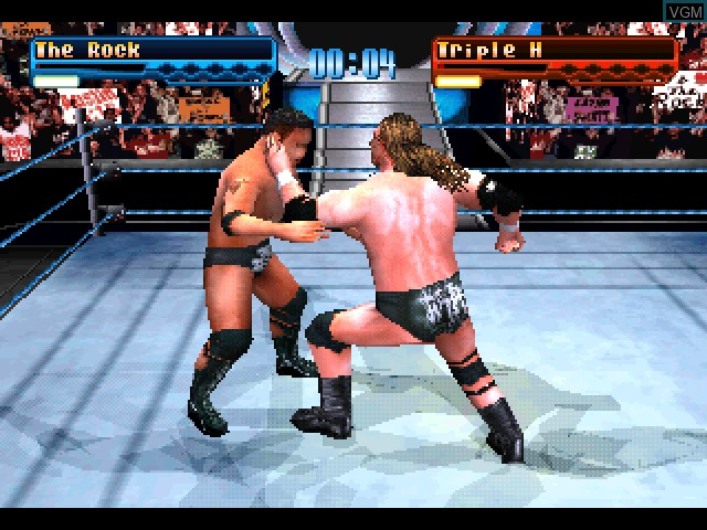 In-game screen of the game WWF SmackDown! on Sony Playstation