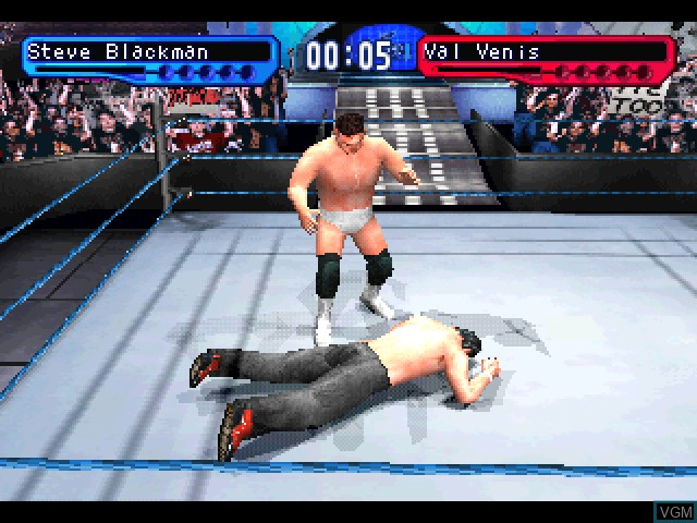 In-game screen of the game WWF SmackDown! 2 - Know Your Role on Sony Playstation