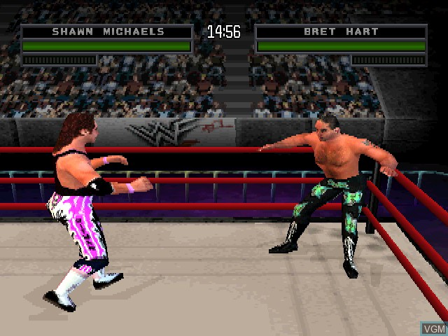 In-game screen of the game WWF War Zone on Sony Playstation