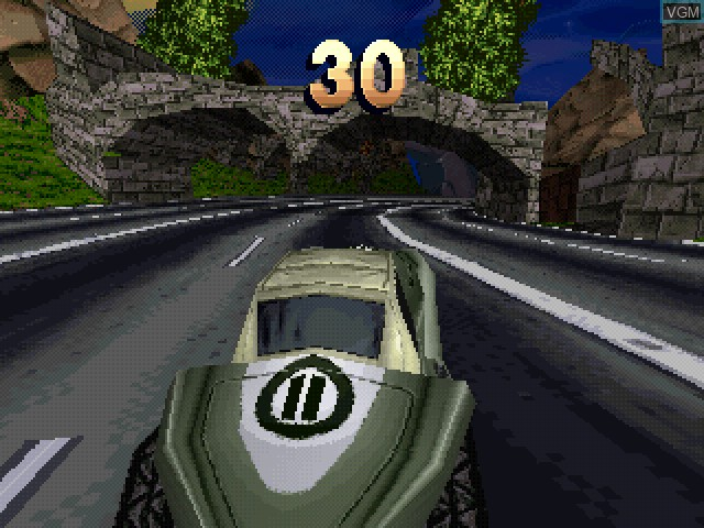In-game screen of the game X.Racing on Sony Playstation