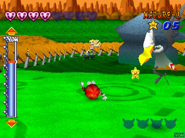 In-game screen of the game Zig Zag Ball on Sony Playstation
