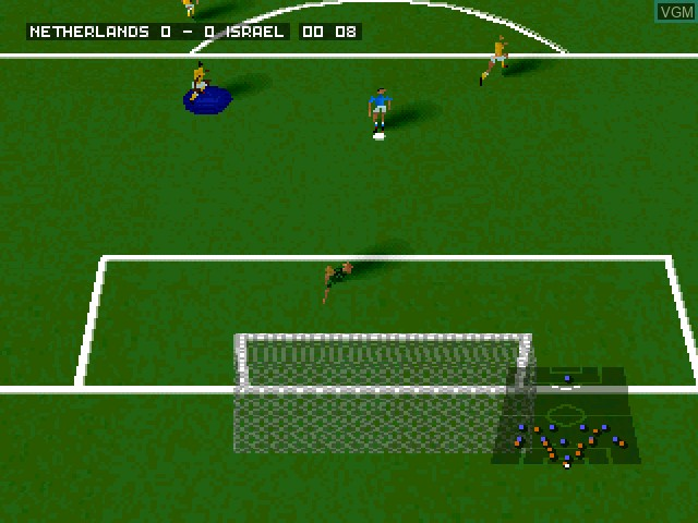 In-game screen of the game 4-4-2 Soccer on Sony Playstation