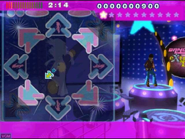 In-game screen of the game Dance - UK eXtra TraX on Sony Playstation